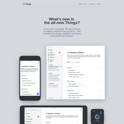 What's New in the all-new Things. Your to-do list for Mac & iOS