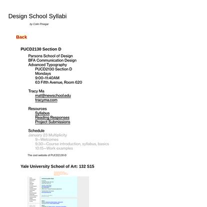 Design School Syllabi