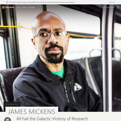 All hail James Mickens, Galactic Viceroy of Research Excellence