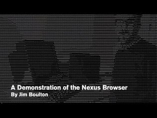 A demonstration of the first web browser, the Nexus browser