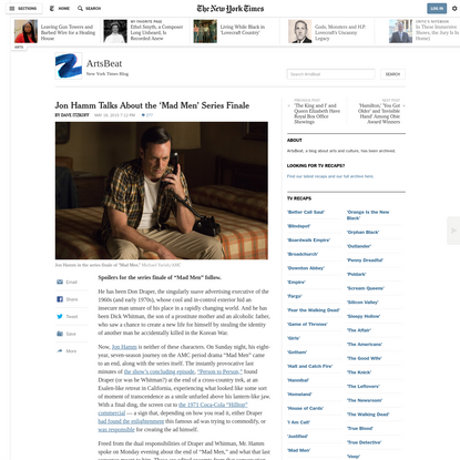 Jon Hamm Talks About the 'Mad Men' Series Finale