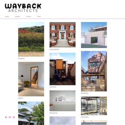WAYBACK ARCHITECTS