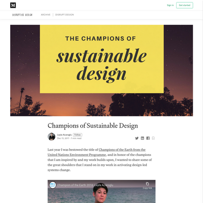 Champions of Sustainable Design