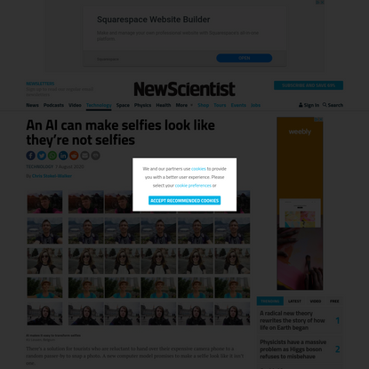 An AI can make selfies look like they're not selfies