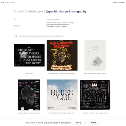 @graphic design & typography - Are.na
