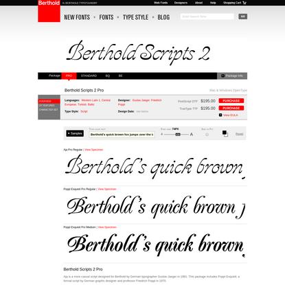 Berthold Scripts 2 Pro