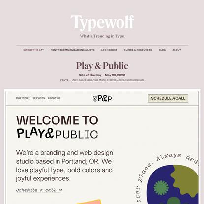Play & Public · Typewolf