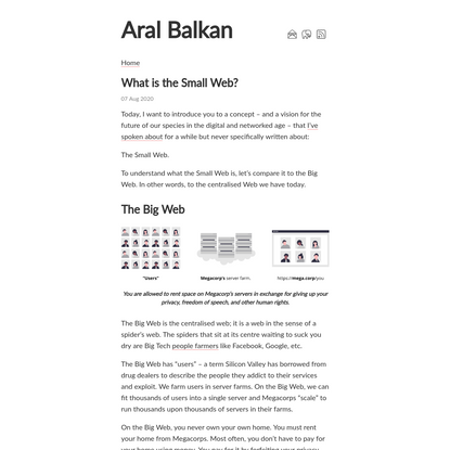 What is the Small Web? – Aral Balkan