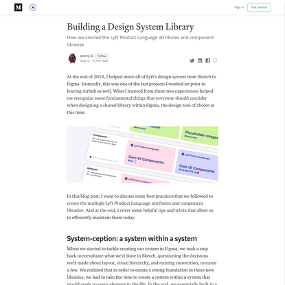 Building a Design System Library