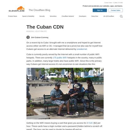 The Cuban CDN