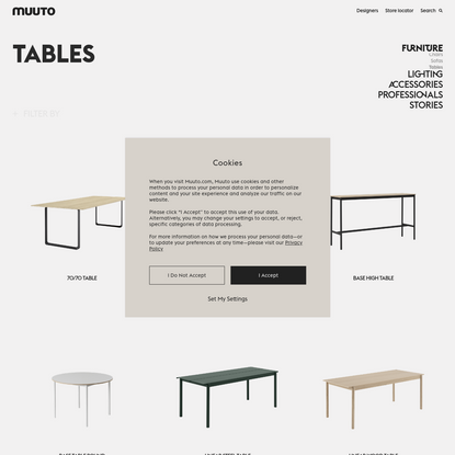Tables from Muuto   Simple Scandinavian design