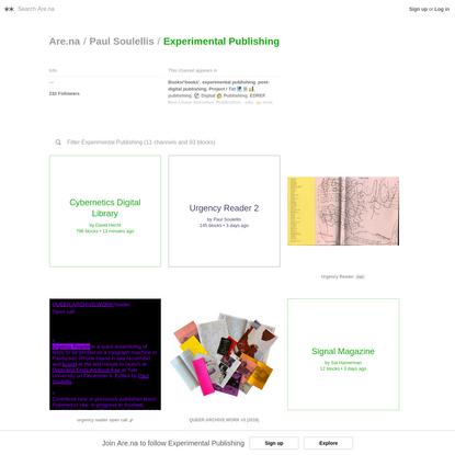 Experimental Publishing - Are.na