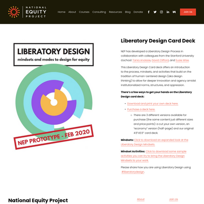 Liberatory Design Card Deck - National Equity Project