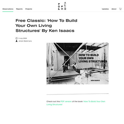 Free Classic: 'How To Build Your Own Living Structures' By Ken Isaacs