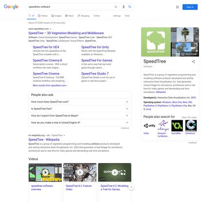speedtree software - Google Search