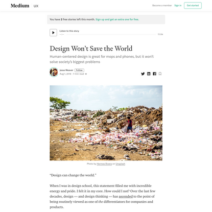 Design Won't Save the World