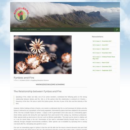 The Relationship between Fynbos and Fire