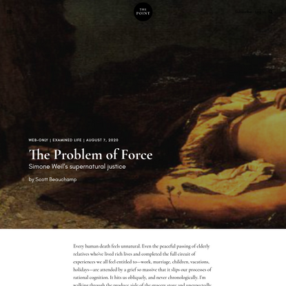 The Problem of Force | The Point Magazine