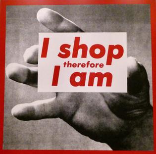 Barbara Kruger, I shop therefore I am, 1987