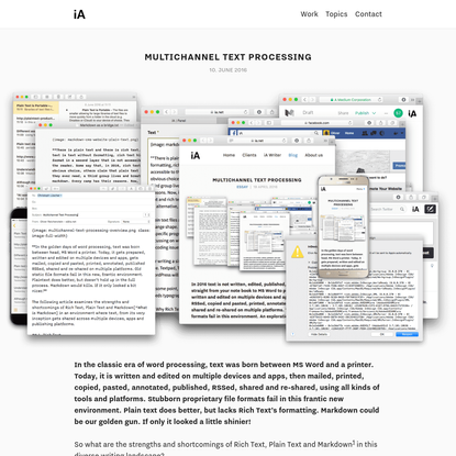 Multichannel Text Processing