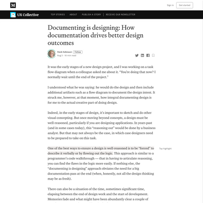 Documenting is designing: How documentation drives better design outcomes