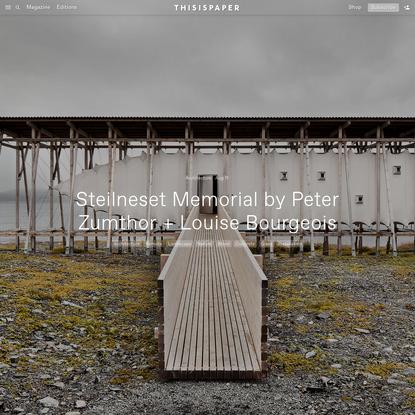 Steilneset Memorial by Peter Zumthor + Louise Bourgeois