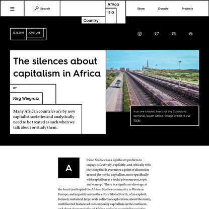 The silences about capitalism in Africa