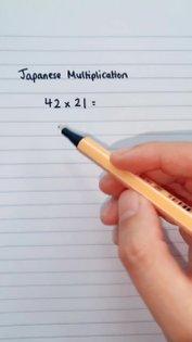 Who uses Japanese multiplication?! 🤩 #maths #easymaths #fyp #foryoupage #learnontiktok #school #gcse #teacher #multiplication