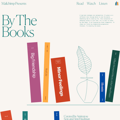 Mailchimp Presents: By The Books   A Collection of Rising Voices