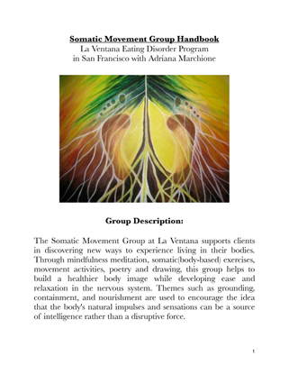 Somatic Movement Group Handbook by Adriana Marchione