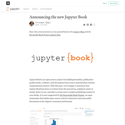 Announcing the new Jupyter Book