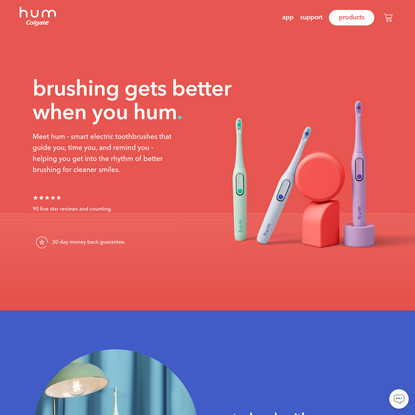 hum - smart connected toothbrushes from Colgate