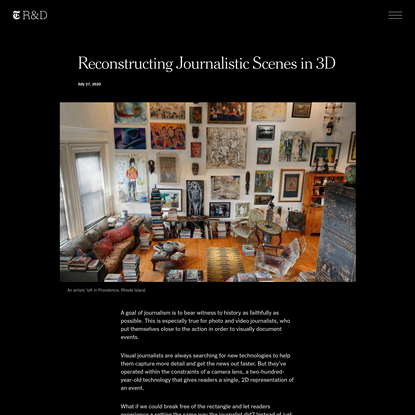 Reconstructing Journalistic Scenes in 3D   The New York Times - Research & Development