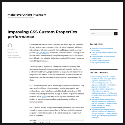 Improving CSS Custom Properties performance – make everything intensely