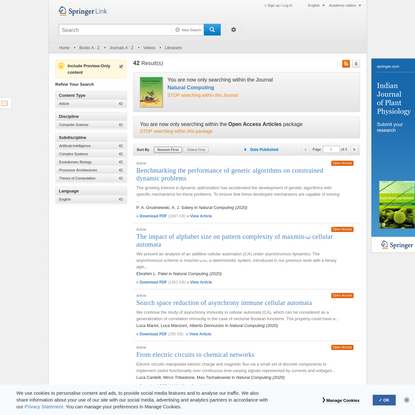 Search Results - Springer