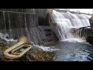 id m theft able ::: A tuba by the hydroelectric dam (with a microphone in it), April 20th 2020