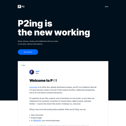 P2 - The New Working