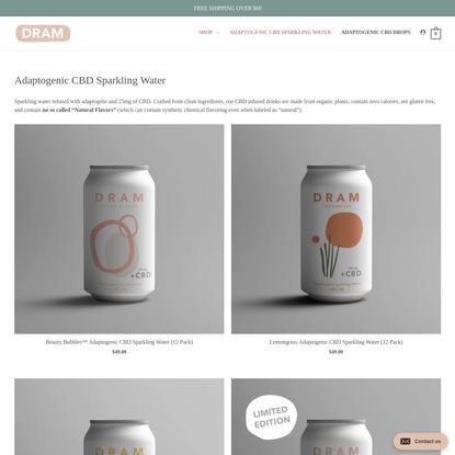 Adaptogenic CBD Sparkling Water - CBD DRINK - DRAM Apothecary