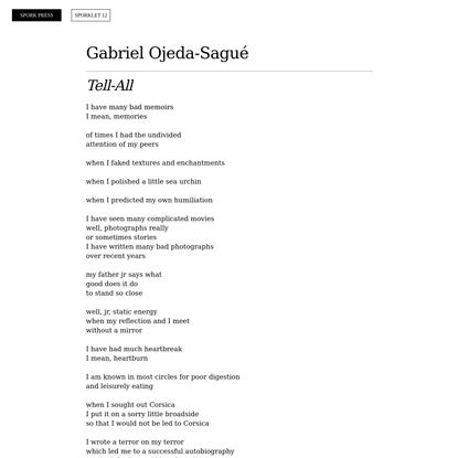 Gabriel Ojeda-Sagué - Sporklet Aug 2020 - Spork Press