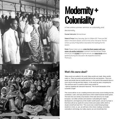 modernitycolonialitysyllabus