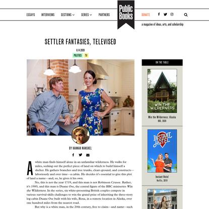 Settler Fantasies, Televised | Public Books