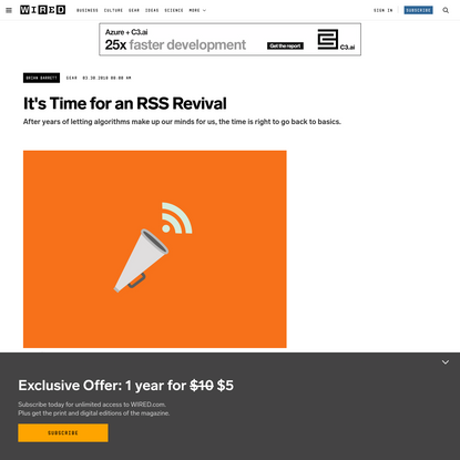 It's Time For an RSS Revival