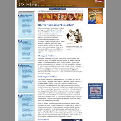 """The Fight Against """"Demon Rum"""" [ushistory.org]"""