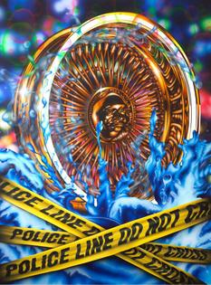 Mario Ayala, Rim Job, 2018, Airbrush and flashe on canvas