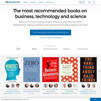 BookAuthority: The Most Recommended Books By Thought Leaders