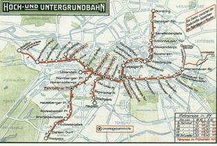 1913 public transport map