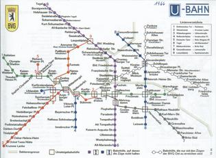 1966 U-Bahn Map