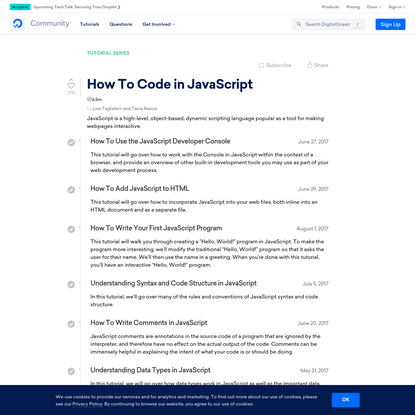 How To Code in JavaScript   DigitalOcean