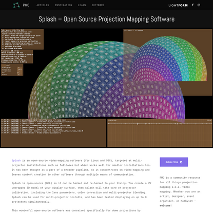 Splash - Open Source Projection Mapping Software - Projection...