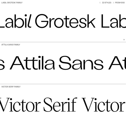 Retail ( KOMETA ) Typefaces
